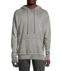 zadig & voltaire men's spencer paint cold-dye hoodie - grey - size s