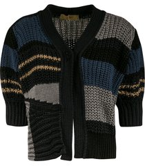 maison flaneur ribbed cropped cardigan