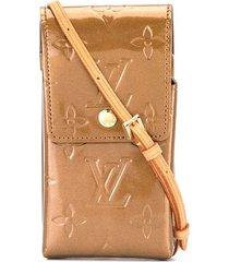 louis vuitton 2001 pre-owned vernis cigarette case - brown