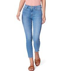 women's paige hoxton high waist crop skinny jeans