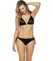 bikini triangulo shiny negro lisantino