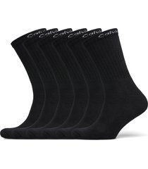 ck men crew 6p antonio underwear socks regular socks svart calvin klein