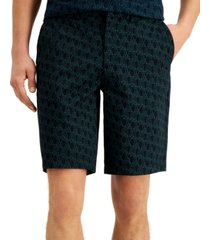 ax armani exchange men's diagonal logo shorts, created for macy's