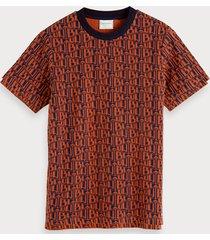 scotch & soda jacquard t-shirt