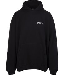 unisex black balenciaga corporate hoodie