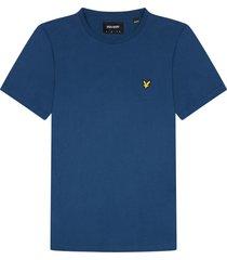 lyle and scott ts400v lyle&scott crew neck t-shirt, w106 indigo