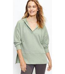 loft lou & grey cozy cotton terry tunic hoodie