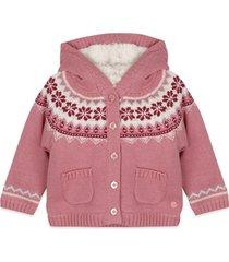 chaleco forrado bebe niña rosado  pillin