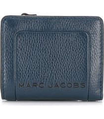 marc jacobs the box textured compact wallet - blue