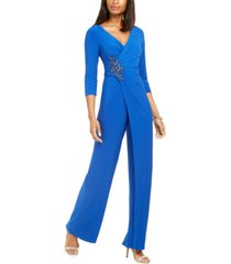 adrianna papell embellished jumpsuit