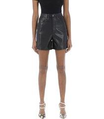 vegan leather shorts leana
