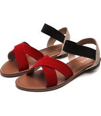 sandalia dama rojo tellenzi l102