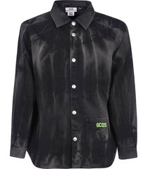 gcds bottom patched logo detail shirt