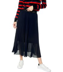 falda azul navy-negro paris district