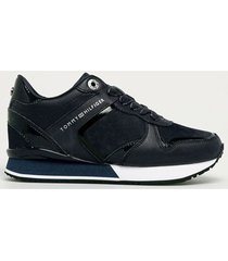 lage sneakers tommy hilfiger dressy wedge mat mix sneaker