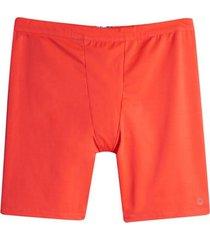 bóxer largo unicolor color naranja, talla s