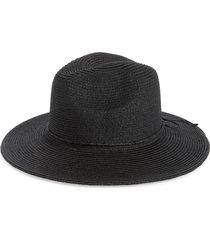 women's san diego hat tie band water resistant fedora hat - black