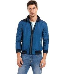 chaqueta reversible nice azul new man
