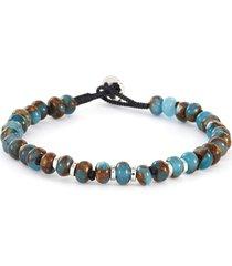 nepal' jasper silver bead bracelet