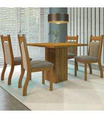 mesa de jantar 4 lugares aires cedro/dakota - viero móveis