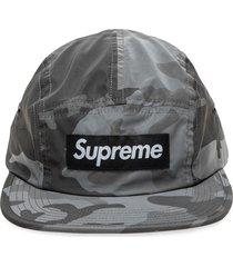 supreme reflective camo camp cap 'fw18' - grey