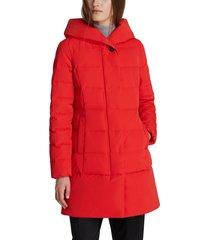 women's woolrich puffy prescott 800 fill power down coat, size small - red