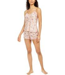 flora by flora nikrooz deidre lace-trim cami & shorts pajama set