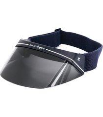 courrèges pre-owned logo print visor cap - blue