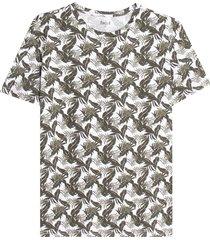 camiseta para hombre m/c esampado floral color blanco, talla l