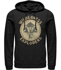 disney pixar men's up wilderness explorer badge, pullover hoodie