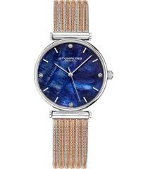 stuhrling women's rose gold - silver tone mesh stainless steel bracelet watch 32mm