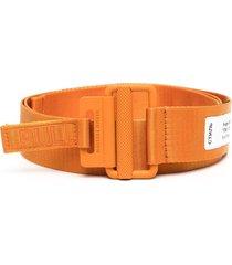 heron preston tape jacquard logo belt - orange