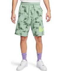 men's nike sportswear festival tie dye drawstring shorts