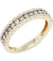 chocolatier®14k honey gold™, chocolate diamonds® & vanilla diamonds® ring