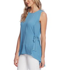 vince camuto petite sleeveless tied high-low top