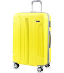 denali s 26 in. anti-theft tsa expandable spinner suitcase