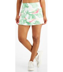 ideology women's palms-print tiered skort, created for macy's