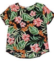 blusa sara flores negra new jacinta tienda