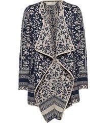 expressive long cardigan gebreide trui cardigan multi/patroon odd molly