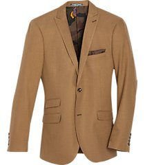 paisley & gray slim fit suit separates coat camel