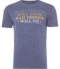 camiseta masculina good things - azul