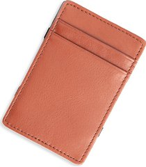royce new york leather magic wallet - tan