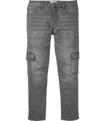 jeans elasticizzati cargo slim fit straight (grigio) - john baner jeanswear
