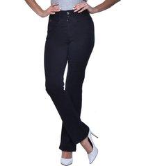 jeans tiro alto recto 3057 negro amalia jeans