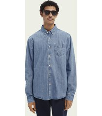 scotch & soda chest pocket organic cotton shirt