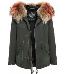 jazzy mini parka with fur