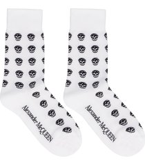 alexander mcqueen logo cotton blend socks