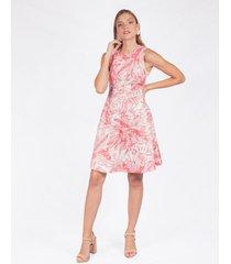 vestido adrissa estampado floral falda rotonda