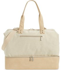 beis weekend travel tote - beige
