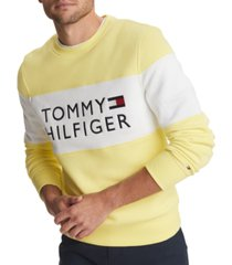 tommy hilfiger men's stellar logo graphic classic fit sweatshirt, created for macy's